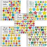 MOKIU Grandes Gommettes Enfant Autocollants Stickers Colorés pour Scrapbooking, Loisirs Creatifs, Materiel Activites…