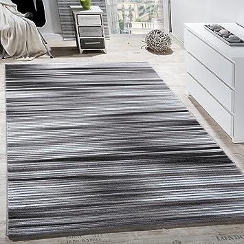 teppich wohnzimmer modern gestreift kurzflor glitzergarn meliert ... - Teppich Wohnzimmer Grose
