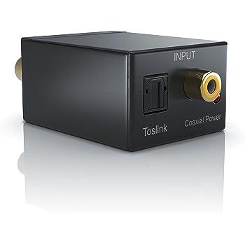 CSL - Audio digital zu analog Konverter | Wandler/Decoder | Home Entertainment | Neues Modell | Noise Reduction Design | Coaxial SPDIF/digital optisch Toslink zu analogem Composite rechts links Audio | Vollmetall | schwarz