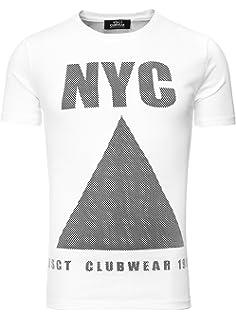 34e43cde6cffb7 VSCT T-Shirt Herren Leder Patch Colour Block Rundhals Shirt V ...