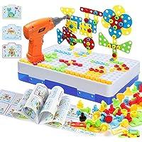 MOOKLIN ROAM 237PCS Mosaique Enfant Puzzle 3D Jeux,Mosaique Enfant Puzzle Éducatifs Jouet Perceuse Electrique pour…