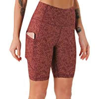 JOYSPELS Womens High Waisted Sports Shorts - Running Shorts with Sides Pockets, Non See Through Yoga Cycling Shorts for…