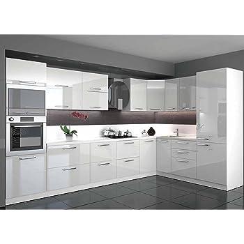 Küche L Form Hochglanz 3,40 m x 2,20 m mit E-Geräten ...