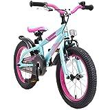 """BIKESTAR Bicicleta Infantil para niños y niñas a Partir de 4 años   Bici de montaña 16 Pulgadas con Frenos   16"""" Edición Moun"""