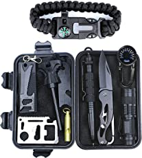HITSAN Outdoor Sports SOS Emergency Survival Equipment Kit For Tactical Hunting Tool With Self-Help Box
