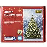 Idena LED Lichterkette 300er, ca. 37,90 m, für innen/außen, warm weiß