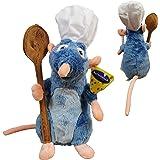 """Disney Ratatouille - Peluche Remy, avec Toque et cuillère 12'63 """"/ 33cm Qualité Super Douce"""
