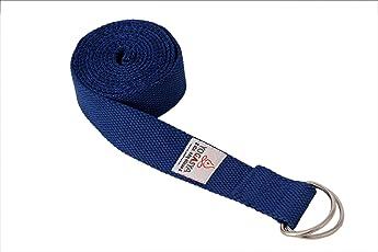 "Yogasya - Yoga Belt - 8 Feet Length - 1.5"" Width - Yoga Props - For Safe, Perfect & Challenging Yoga Posture - Blue"