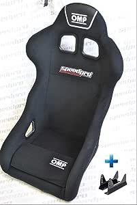 OMP TRS-E Sportsitz/Rennsitz Schwarz Schalensitz FIA Motorsport Rallye Rundstrecke HA/741E SPEEDPRO BRAND NEW 2019 + Speedpro Sitzadapter