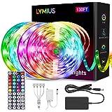 【Ultra-Lang】LED Strip 40M, LYMIUS LED Streifen RGB mit Fernbedienung, 20 Farben und 6 Szenenmodi für Schlafzimmer, TV, Party,