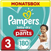 Pampers Baby-Dry Pants, Gr. 3, 6kg-11kg, Monatsbox (1 x 180 Pants)