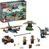 LEGO Jurassic World Velociraptor: Tweedekker reddingsmissie 75942 geweldige bouwset met dinosaurusspeelgoed voor kleuters (10