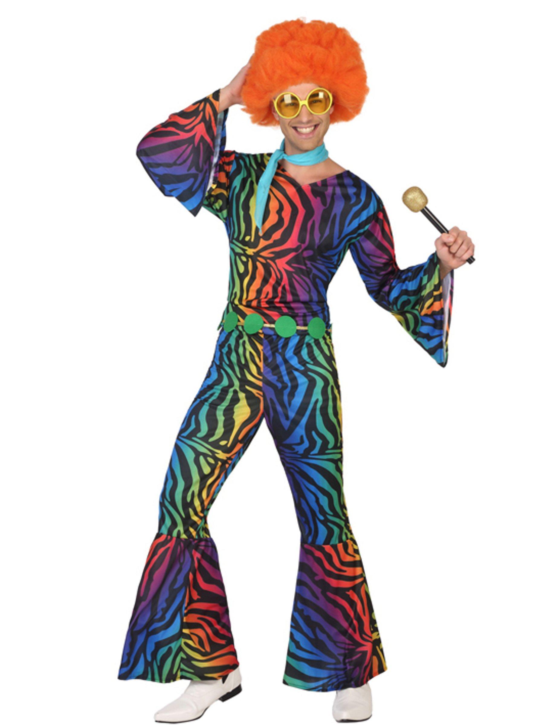 Atosa Disfraz Disco con Estampado Multicolor para Hombre
