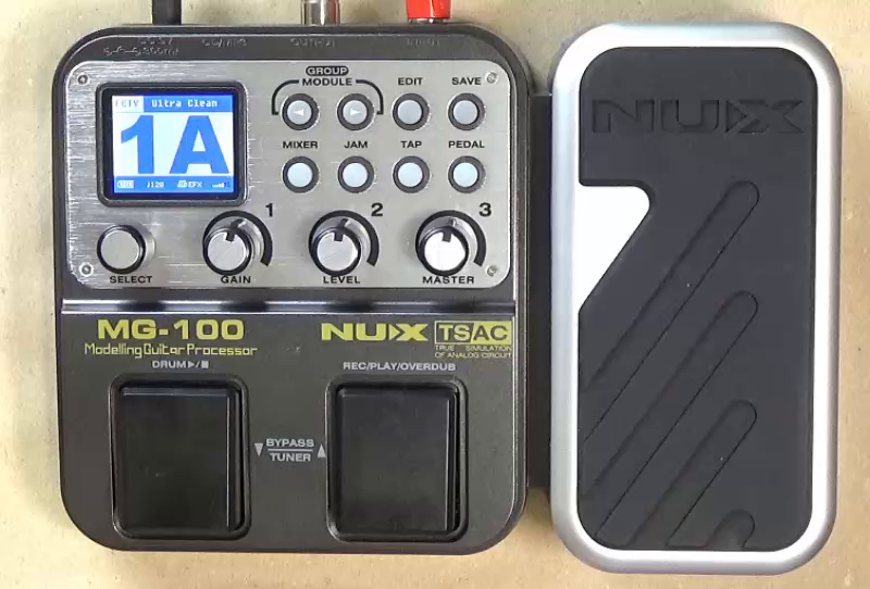 Asmuse NUX Mg100 Guitarra Eléctrica Multi Efectos Procesador de Pedal para Principiante Looper Amp EQ Mezclador Instrumento Guitarra Eléctrica Bajo Guitarra ...