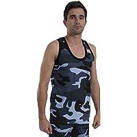 Britwear Mens Army Camo Combat Muscle Gym Tank Top Sleeveless Singlenet 100% Cotton Vest