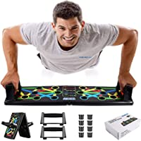 Nexqua New Portable Push Up Board System, 14 in 1 Body Building Exercise Tools Workout Push Up Stands, Push Up Workout…