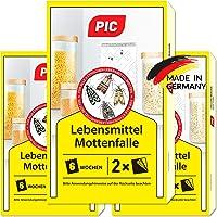 PIC Lebensmittel-Mottenfalle - Dreierpack = 6 Stück - Zum Fangen von Lebensmittelmotten in der Küche und Lagerräumen…
