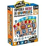 Headu Tombola Tactile Montessori met cijfers leerspel, meerkleurig, IT20249