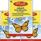 Aeroxon - Adhesifs Anti-Mouches - Appât à Mouches pour fenêtres - 3x4 = 12 pièces Paquet spécial - Plus de Mouches…