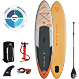 """AM AQUA MARINA Stand Up Paddle Board uppblåsbar i en uppsättning Magma 2021 iSUP 11'2"""" Upprättstående Paddling SUP-Board 340"""