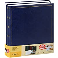 Lot de 2 albums traditionnels jumbo 100 pages pour 500 photos 10x15 - Bleu