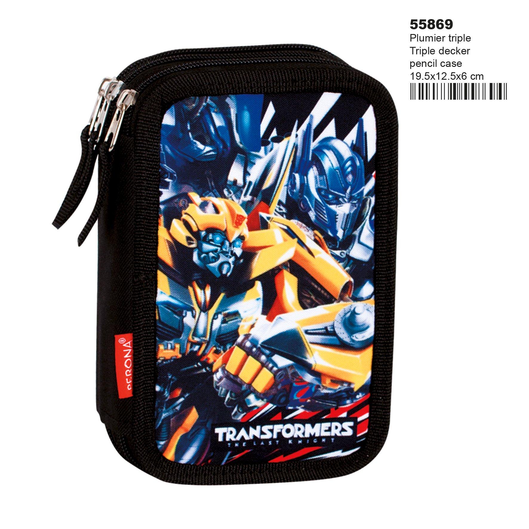 Montichelvo Transformers Accepted – Plumier de Triple Compartimento 45 Piezas, Estuche (Perona 55869)