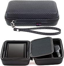 Digicharge® Schwarzes Hartschalentasche für Garmin Drive 60LM 61LMT-S DriveSmart 60LM 61 LMT-S mit Tragegurt und Zubehörfach