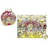 Janod J02874 - Puzzle Im Koffer 54 Teile, Zirkus