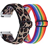 (2-pack) Chofit Strap Compatibel met Amazfit Bip U Pro/Bip U/GTS 2 Mini/GTS 2e Smartwatch bandjes, verstelbaar geweven nylon