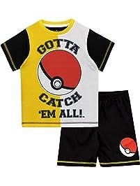 Pokèmon Pijamas de Manga Corta para niños Pokeball