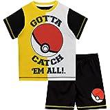 Pokemon Pijamas de Manga Corta para niños Pokeball