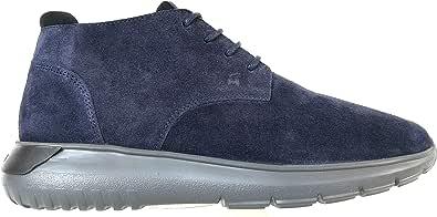 Hogan Luxury Fashion Uomo HXM3710AT80HK14126 Blu Camoscio Polacchini   Autunno-Inverno 20