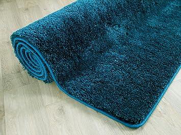 Teppich grün blau  Hochflor Shaggy Teppich Palace Petrol Grün Blau in 24 Größen ...