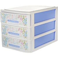Nayasa Tuckins 3 Piece Plastic Drawer, Blue