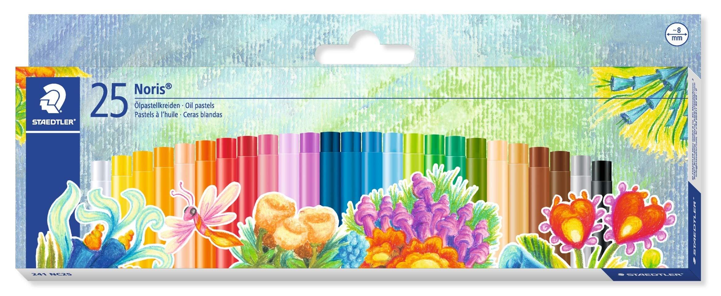 STAEDTLER 241NC25 – Estuche con 25 Ceras, Multicolor