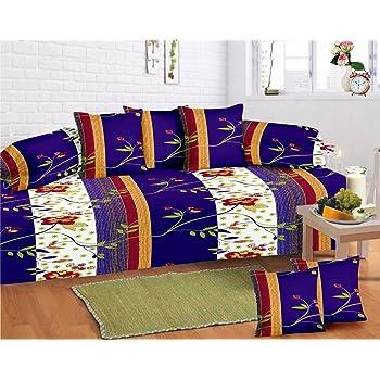 Supreme Home Collective 104 TC 8 Piece Cotton Bed in a Bag Set - Purple