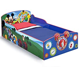 Disney Mickey Mouse Wood Bed (Multicolour, BB86929MM)