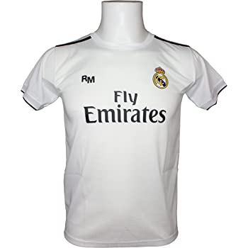 Real Madrid Camiseta Adulto Sin Dorsal. Réplica Oficial de la Primera Equipación Temporada 2018-