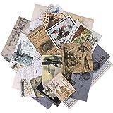 Autocollants de Scrapbooking,36 Pcs Ephemera Pack Vintage Sticker Set Vintage Stickers DIY Sticker décoratif Pack Autocollant