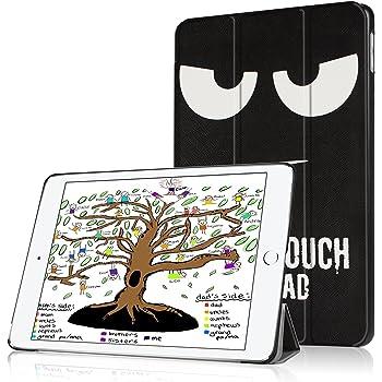 Coque iPad 2018, Coque iPad 2017, HBorna Nouvel iPad 2018 / 2017 9,7 Pouces Smart Case Cover Housse Etui Coque De Protection Rigide Ultra Fine Avec Fonction Sommeil/RéVeil Pour New Apple iPad 9.7 2018 / 2017 (Modèle A1822 / A1823 / A1893 / A1954), Don't Touch
