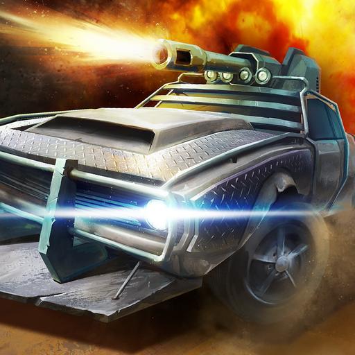 Strike Cars - Armored Car Battle Arena: Auto Rennen und Überlebens Spiele, Krieg und Kampf der Rennfahrer, die sich gegen Angriff schützen, Autos mit Waffen auf Autobahn zerstören und schiessen