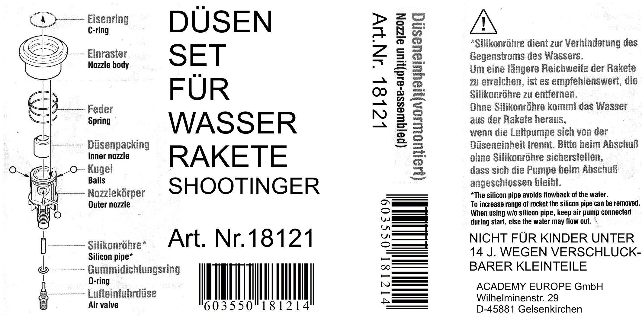 Academy AC18121 - Düseneinheit für Wasserrakete Shootinger