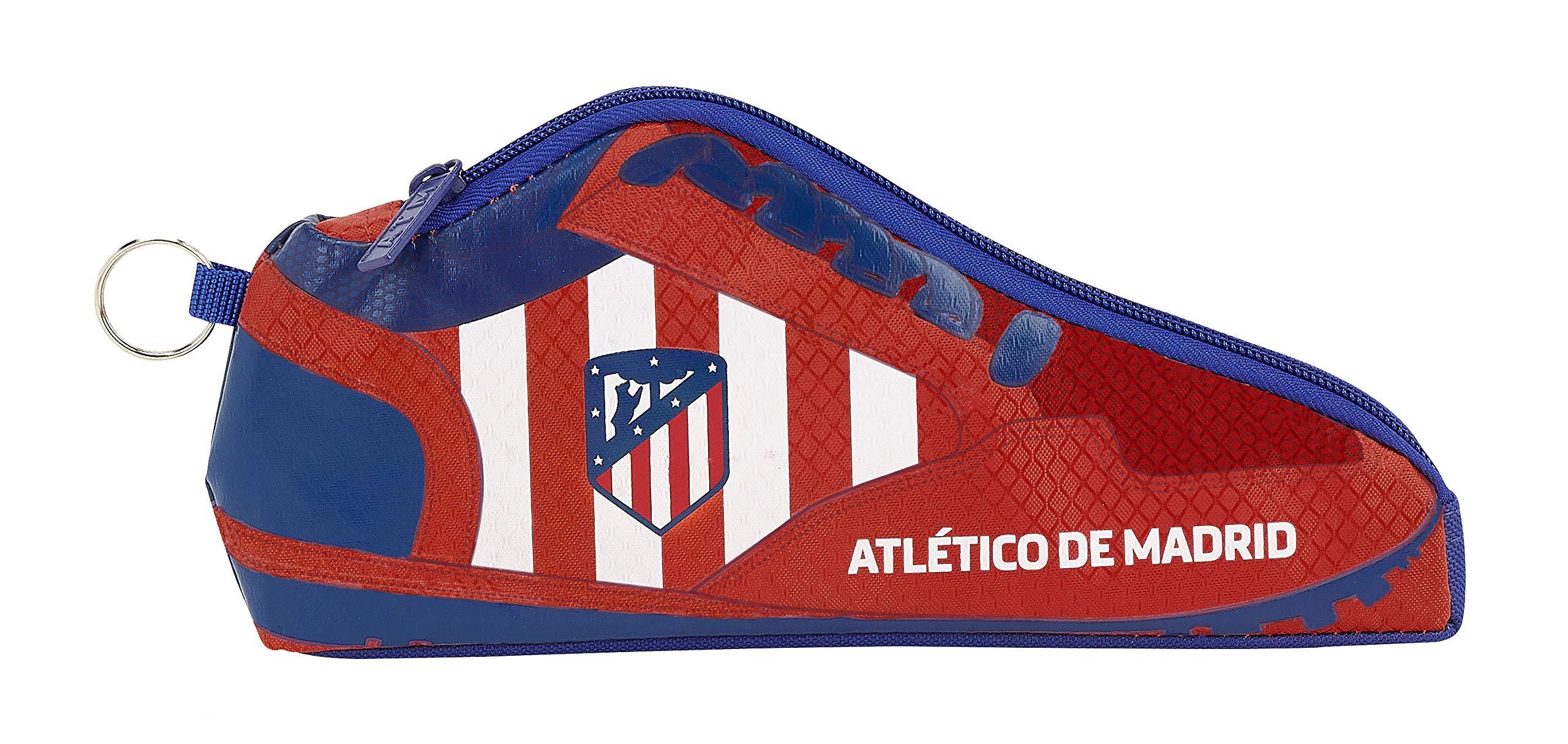 Atlético de Madrid Estuche portatodo Forma Zapatilla, Escolar.