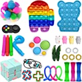 Fidget Toy Set, 30 Pck Doraler Sensory Toys Pack Cheap for Kids Adults,Stress Relief and Anti-Anxiety Tools,Fidget Box…