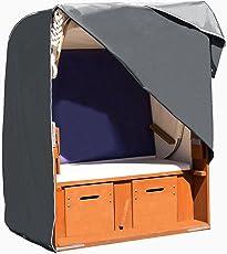 Purovi Strandkorb Schutzhülle | Abdeckung aus 420D Oxford Gewebe | Wetterschutz | Wasserdicht | UV-Schutz