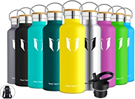 Super Sparrow Stainless Steel Vacuum Insulated Water Bottle - Double Wall Design - Standard Mouth - 500ml & 750ml &...