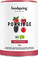 foodspring Bio Protein Porridge, Waldbeere, 420g, Frühstücksbrei, Hergestellt in Deutschland mit Bio Zutaten vom Bodensee