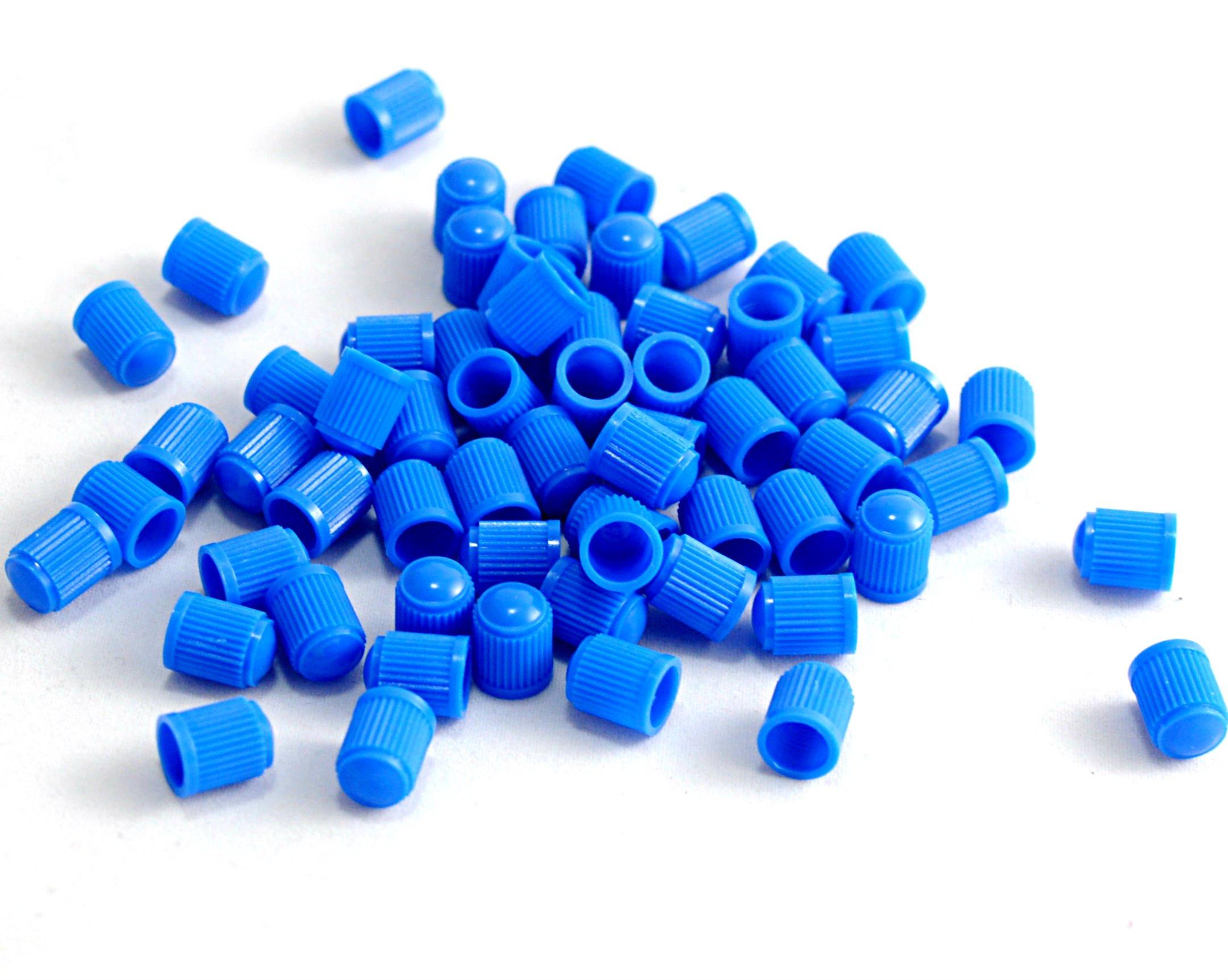 20 tappi antipolvere per viti per pneumatici, in plastica, colore: blu.