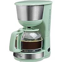 Bestron Cafetière électrique avec plaque chauffante, Royal Mint, Pour café filtre moulu, 10 tasses, 1000 W, Vert menthe