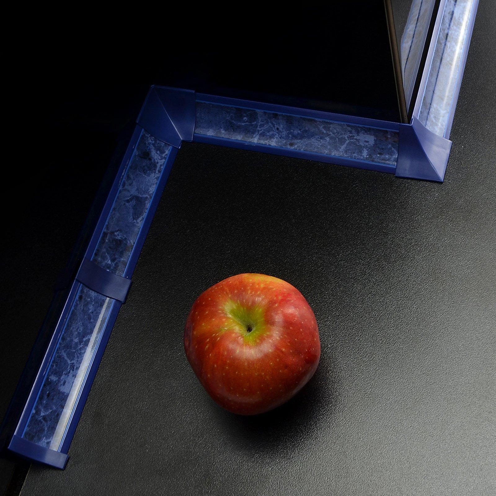 IMPOSTATO 3m 23 mm PVC cucina piano di lavoro bordatura e accessori tagliare viti gratuiti colore: m